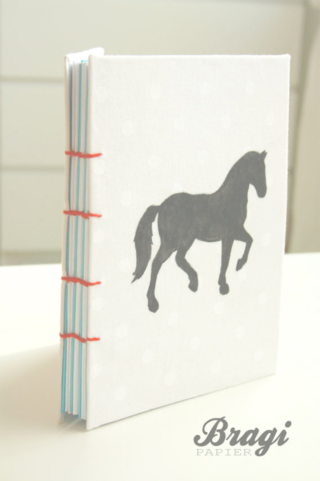 White Cover Horse Notebook
