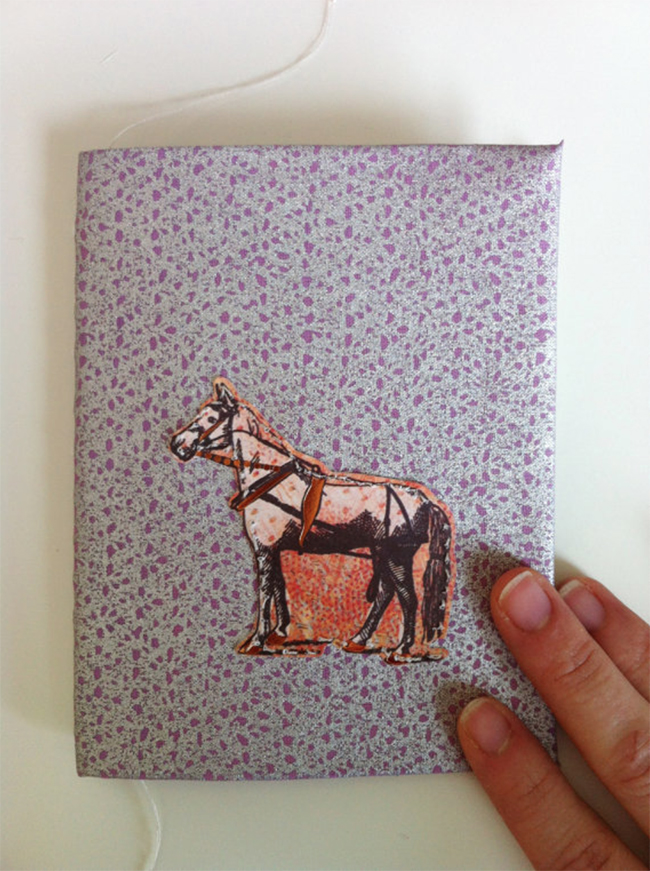 Wild Horse Notebook with Hand-Sewn Binding