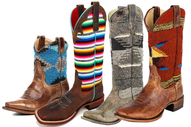 4 Pairs of Serape Cowboy Boots we Love