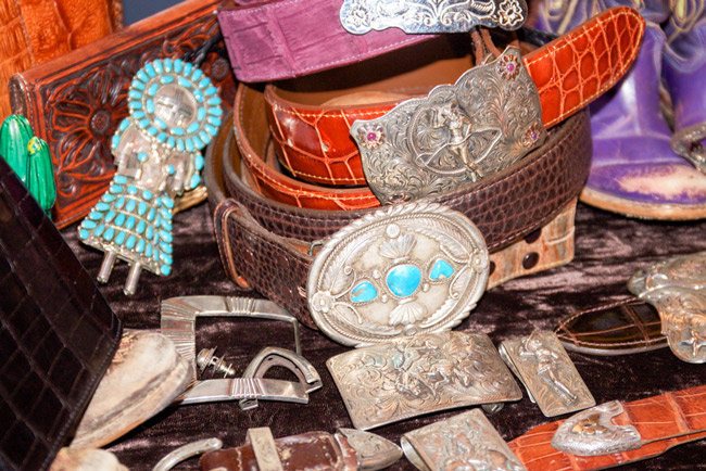 Western belts and silver accessories