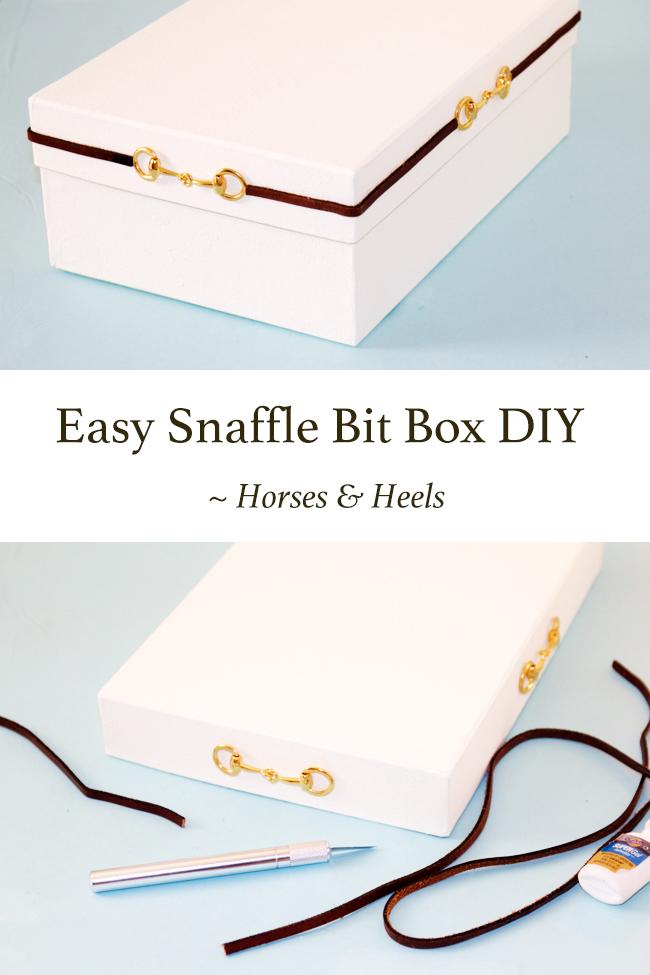 Easy snaffle bit storage box DIY