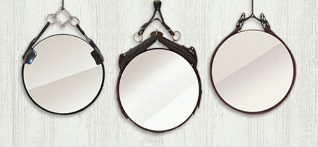Leather Equestrian Mirrors from October Design Co.