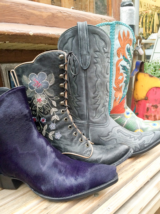 Fall cowboy boot collection in New York City