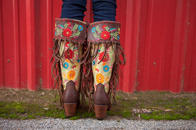 Gloria Rodeo Quincy Fringe Cowgirl Boots