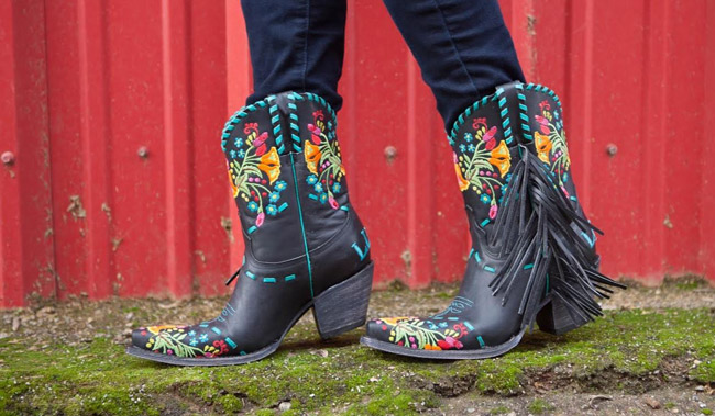 Rodeo Quincy Isabella Fringe Boots