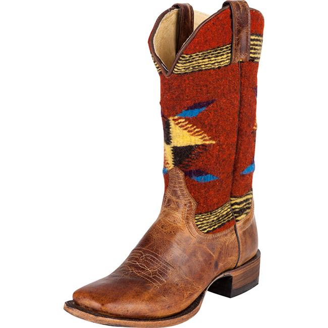 Stetson Rust Serape Cowboy Boots