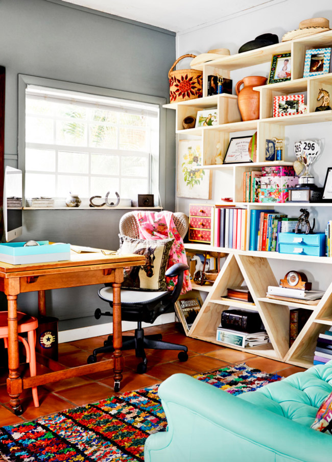 Bright and colorful equestrian office
