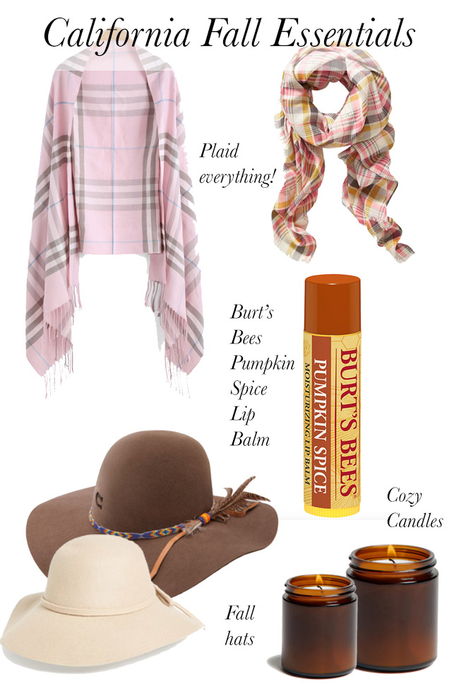 California Fall Essentials - keep these items on hand for when it doesn't feel like fall