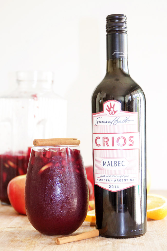 Crios Malbec makes an excellent sangria