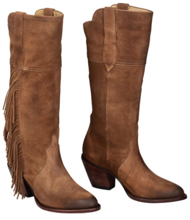 Gallop Kacey for Lucchese Bridle Brown Cowboy Boots