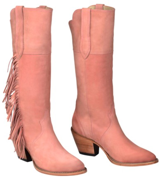 Gallop Kacey for Lucchese Dusty Pink Cowboy Boots