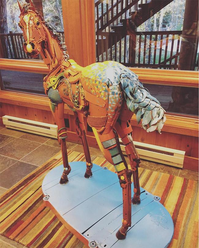 Horse art at the ranch