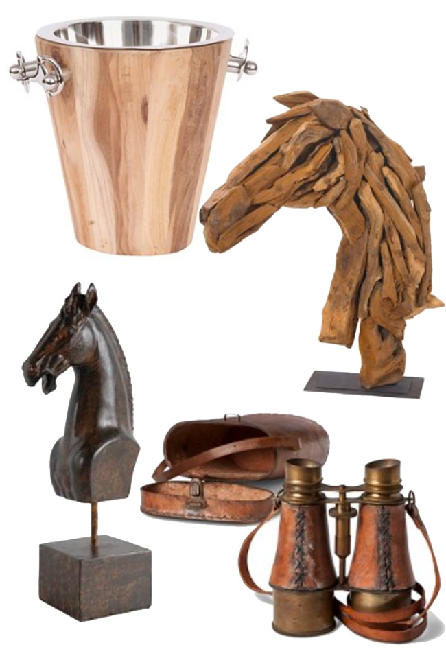 Horse Head Statues And Equestrian Accents
