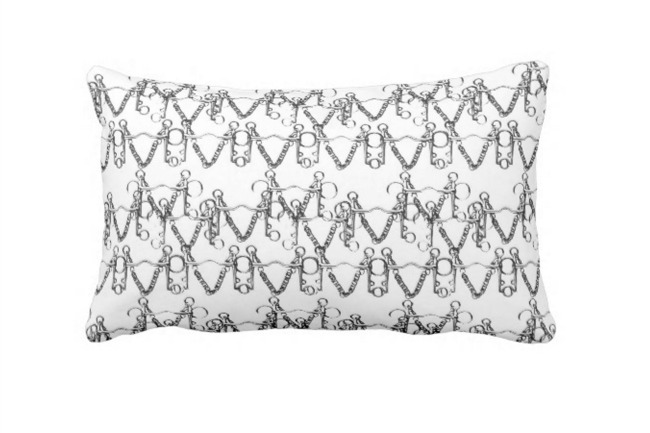 Pelham Print Pillow in Noir