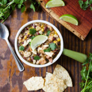 Slow cooker verde chicken chili