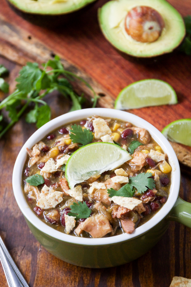 Verde Chicken Chili, this is such an easy crockpot recipe