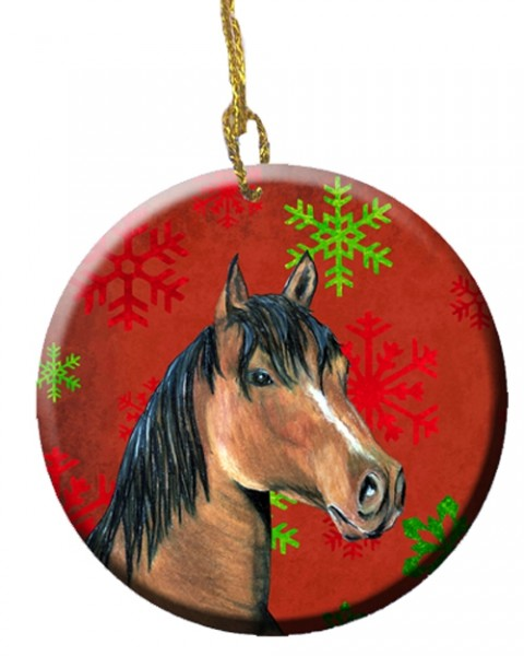 Carolines Treasures horse and snowflakes ornament