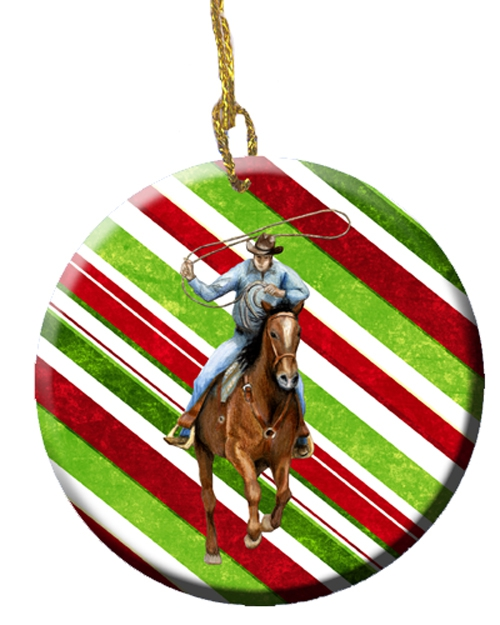 Carolines Treasures roper candy cane ornament