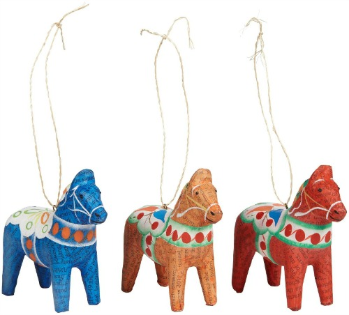 Dala horses, set of three