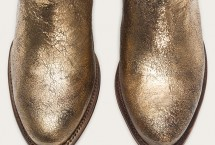 Frye Gold Metallic Leather Shortie Boots