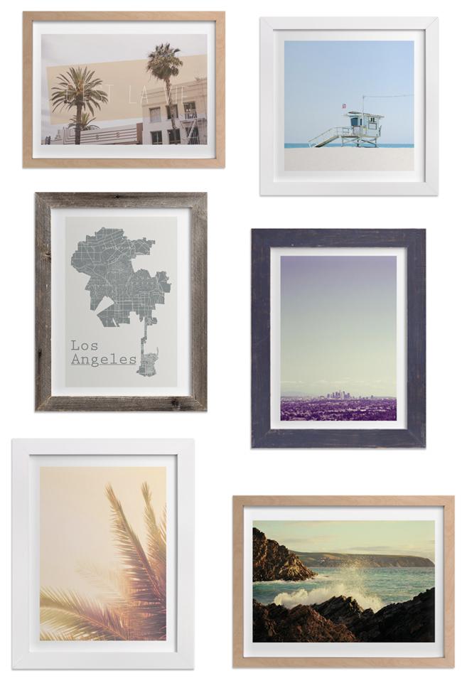 LA art gallery prints, love Los Angeles