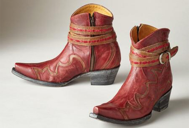 5 Pairs of Red Holiday Boots