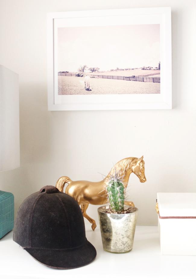 Soft minimalist equestrian details at home