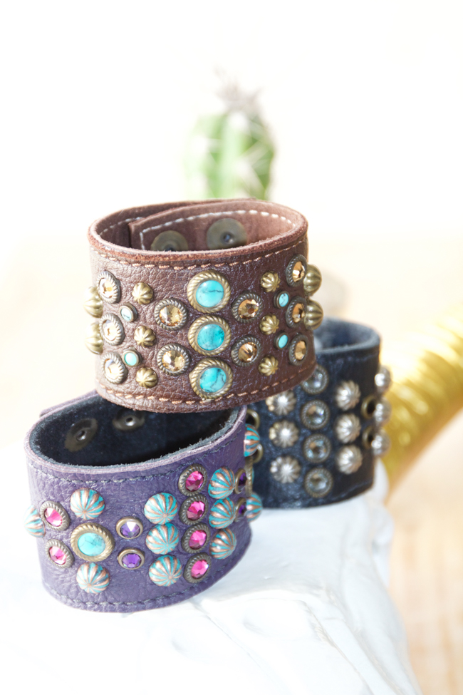 Sweet Antics Collection leather cuffs