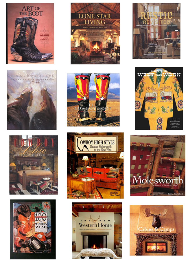 Western and rustic coffee table books for the home