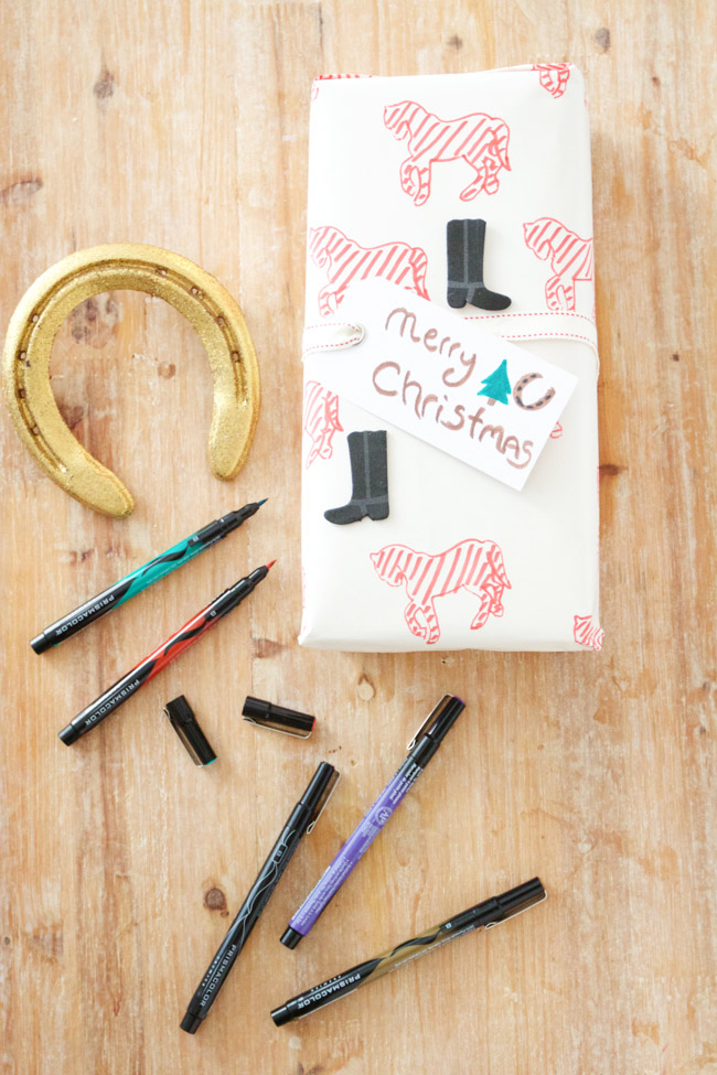 DIY holiday wrapping paper adds a personal touch