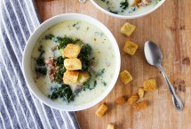 Spicy sausage and kale soup is a great winter meal