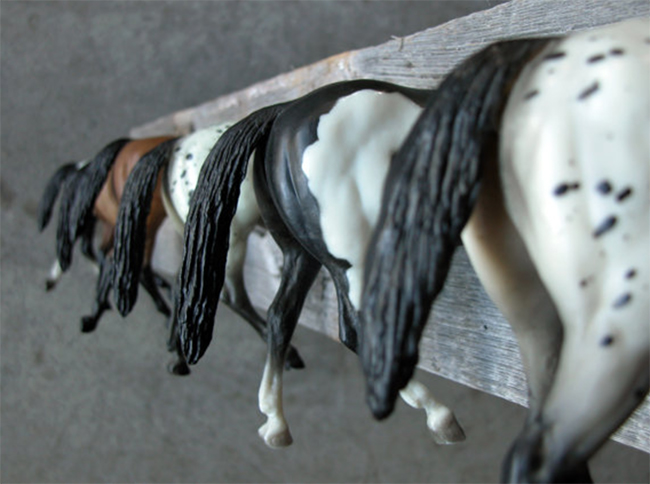 Breyer Horses on reclaimed wood