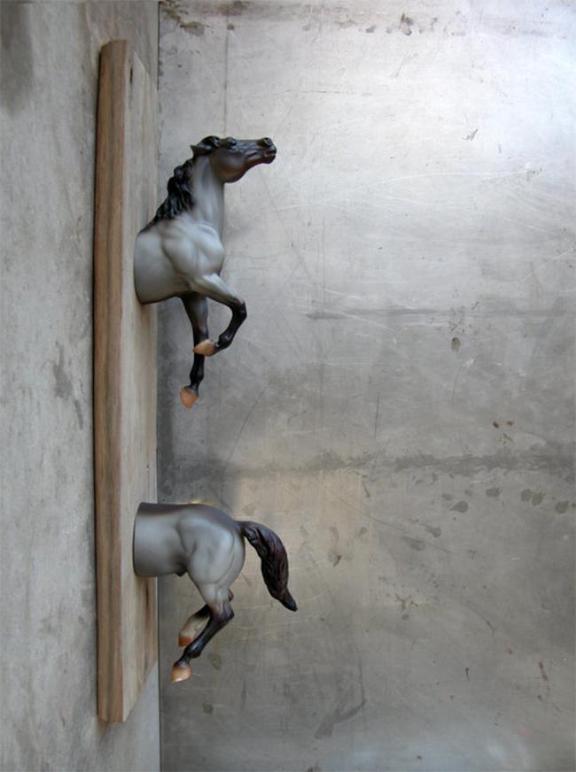 Breyer horse on reclaimed wood