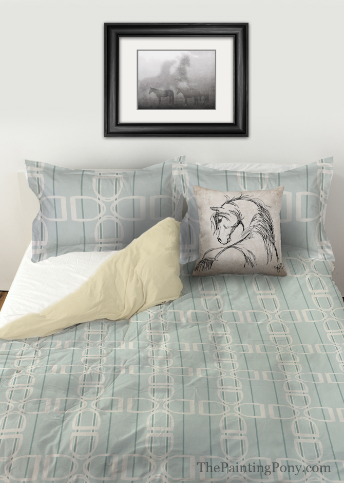 English Stirrups Patterned Duvet Bedding
