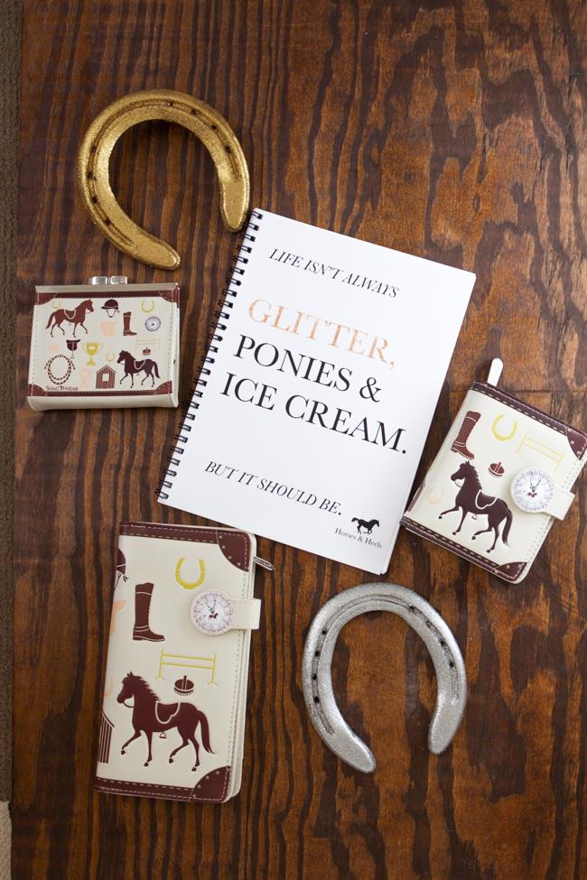 Equestrian print accessories