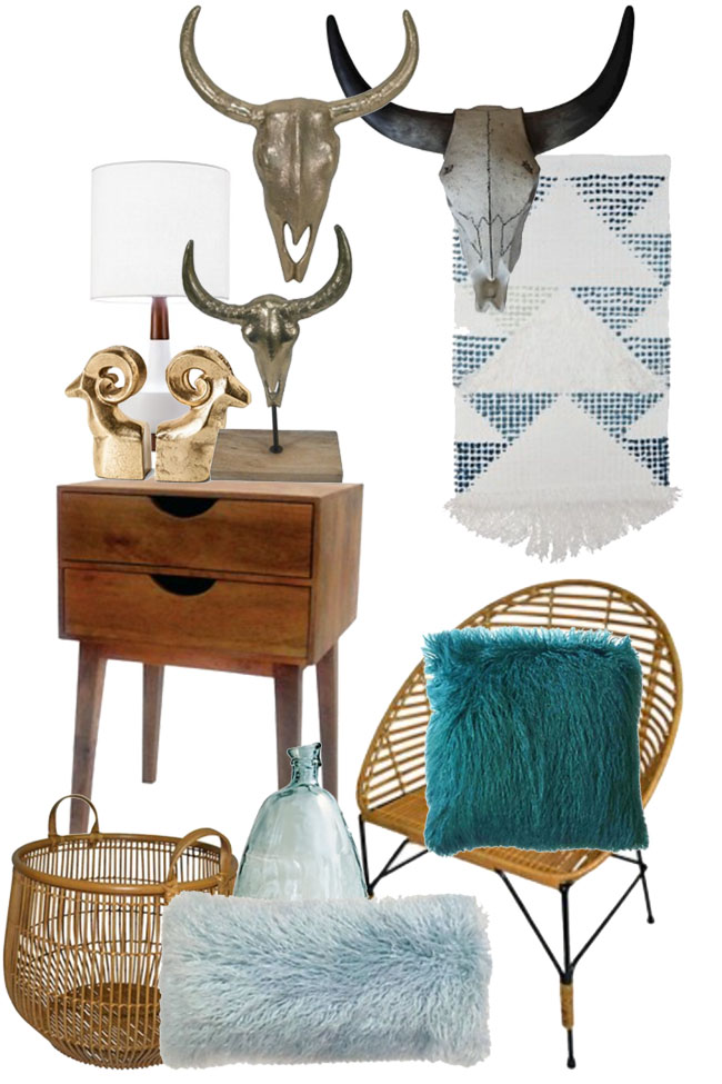 Southwest meets mid century home decor