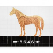 Subway tile horse home sign