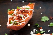 Twice baked chipotle sweet potatoes