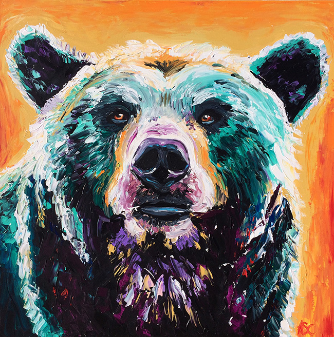 Bear Dreaming, an original painting by Alana Clumeck