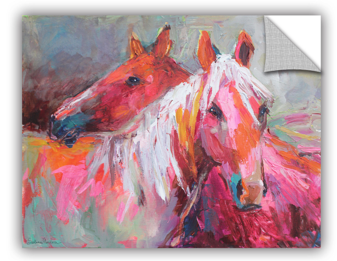 Colorful horse art decal
