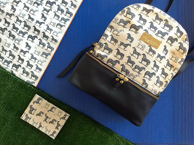 Horse print backpack and accessorries
