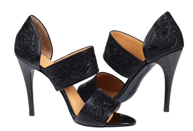 Lucchese Rose sandal in black