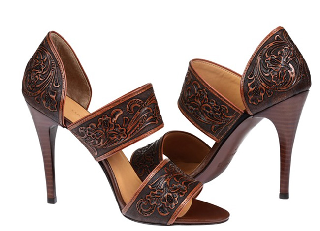 Lucchese Rose sandals in brown
