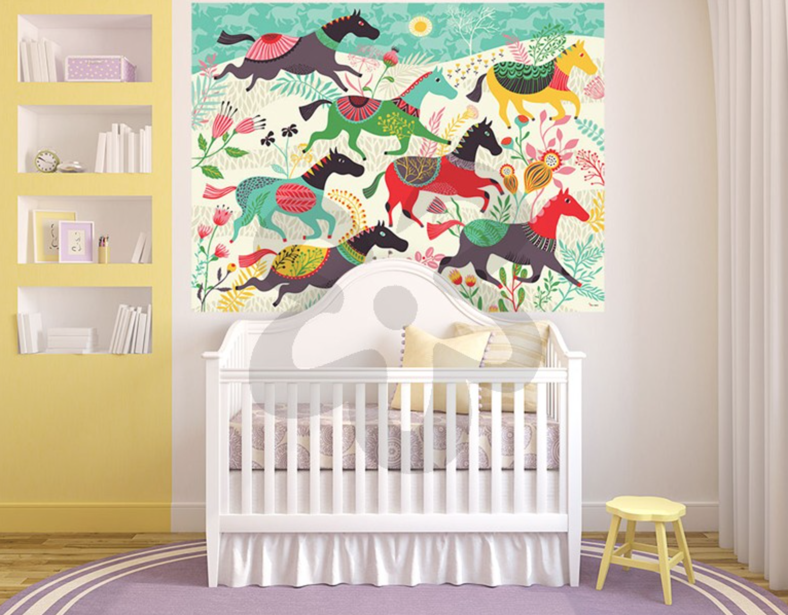 Fresh Nursery room horse decal