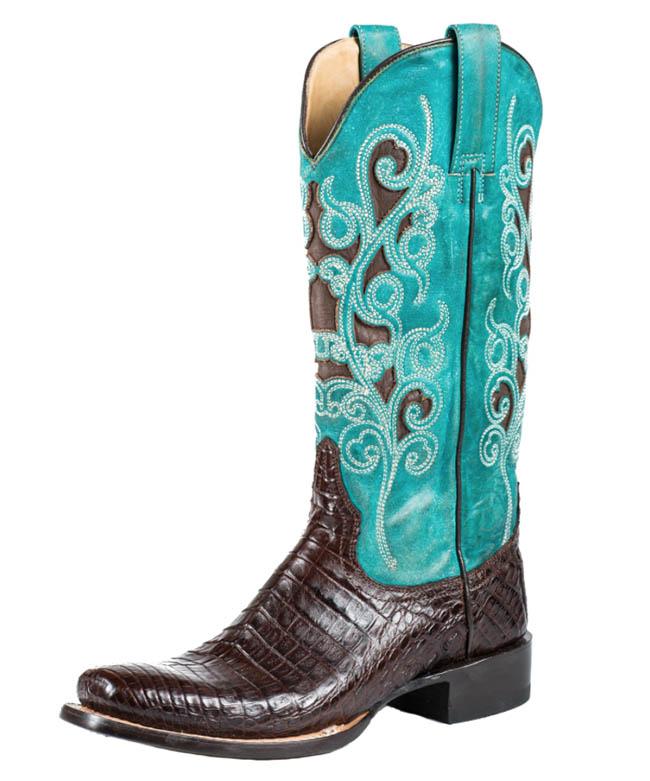 Stetson Alia narrow square toe cowboy boots