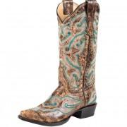 Stetson vintage snip toe cowboy boots