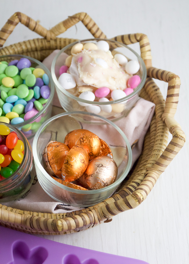 A delicious and sweet Easter basket with candy