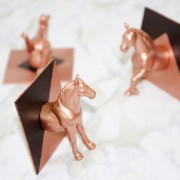 DIY copper and black horse head hook