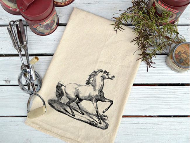 Flour sack horse tea towel