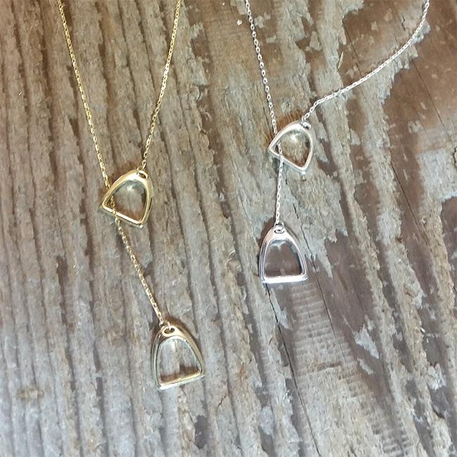 Lariat Stirrup Necklace